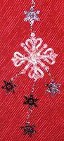 "Clear & Silvertone Dangle 7"" Snowflake Christmas Ornament Figurine"
