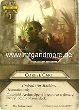Warhammer Invasion - 2x Corpse Cart  #051