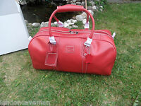 NEW Genuine vintage Leather Great Weekend,Sports,On board luggage bag Christmas