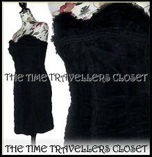 Kate Moss Topshop LTD ED Ruched Boned Support Black Corset Bustier Dress UK 6 8