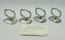 Set of 8 Southern Living at Home Redmont Heirloom Napkin Rings NIB