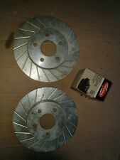 Jaguar X-type / Mondeo Grooved Rear Brake Discs And Delphi Pad Set