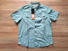 NWT Mens FIELD & STREAM Universal Travel Shirt UV Protection Mineral Green Sz M