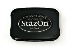StazOn Ink Pad  JET BLACK Solvent based INK PAD SZ-31 Acid Free Fast Drying