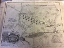 Antique map of Battle of Donnerwurtat siege ofI Basire published 1740's