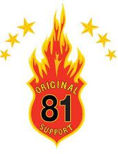 Hells Angels ORIGINAL 81 SUPPORT LOGO FLAMME Support Autoscheibenaufkleber groß