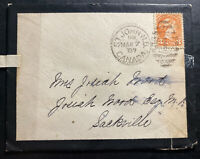 1887 St John Canada Mourning Cover To Sackville