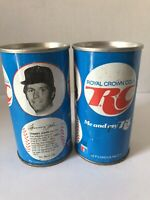 Vintage 1978 RC Cola  Baseball Players Can, Tommy John, Paul Splittorff