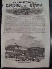 ABO Turku Castle Aura River Finland 1854 Illustrated London News