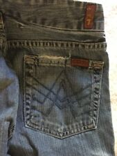 7 For All Mankind A Pocket Flare Jeans Size 26 Authentic Seven Medium Wash