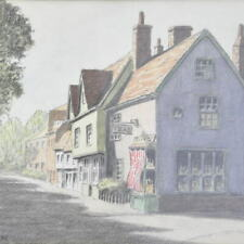 E. STARLING: Water Colour Painting Dedham CONSTABLE Village Teas Signed C1983