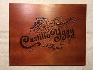 1 Rare Wine Wood Panel Castillo Ygay Rioja Vintage CRATE BOX SIDE 6/21 504