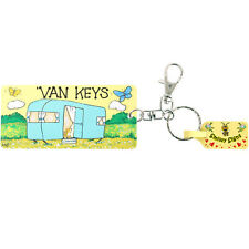 Smiley Signs Keyring Plastic VAN KEYS Key Fob Clip Hook Split Ring Caravan