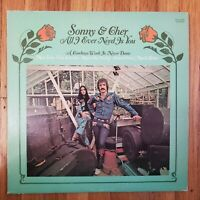SONNY AND Cher  ALL I EVER NEED IS YOU 1972 NM Vinyl LP VG+ Record Cover KS-3660