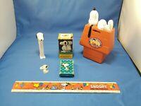 Vintage Snoopy Peanuts Lot of 6 pieces. Pez, Chex Mix, Hallmark. LOOK Read