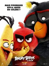 Affiche 40x60cm ANGRY BIRDS (2016) Clay Kaytis, Reilly film d'animation TBE