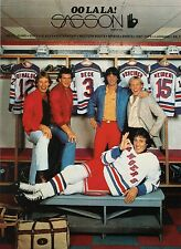 1981 NY Rangers Phil Esposito Don Maloney Ron Greschner  Sasson jeans 8X10 pix