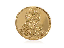 Classy Goddess Laxmi Pure Gold Coin In Solid 995 Stamped 24Karat Yellow Gold