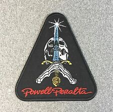 Powell Peralta Skull & Sword Skateboard Patch 4.25in Iron on Patch si