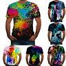 Fashion Men Summer New Casual 3D Printed Short Sleeve T Shirt Blouse Tops Tee PD