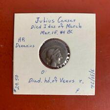 Julius Caesar AR Denarius Silver Venus Head Coin 44 BC