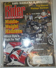 Rider Magazine Middle Weight Madness Yamaha Seca II October 1992 041015R