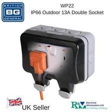 BG WP22 - IP66 Outdoor Garden Weatherproof 13A Switched Double Socket