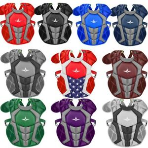 """All-Star System 7 Axis 9-12 14.5"""" Baseball Catcher's Chest Protector"""