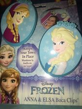 Boca Clips Disney Frozen Anna And Elsa Towel Holder New Plastic Super Big Kids