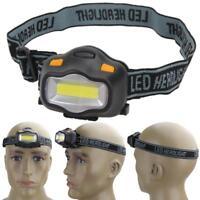 12 COB LED Headlight Fishing Camping Riding Outdoor Light Head Lamp Flashlight