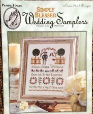 PATTERN cross stitch WEDDING SAMPLERS ANNIVERSARY HOUSE BLESSING BRIDE GROOM new