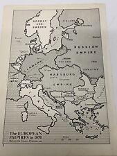 Map Of The European Empires In 1870 Original Print Habsburg Ottoman Empire Italy