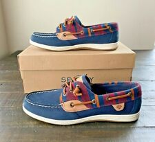 NIB SPERRY TOP SIDER SONGFISH WOOL NAVY BOAT SHOES FLATS MULT SZ STS84082