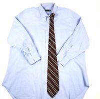 Robert Talbott Men's Blue Dress Shirt Size 17-33 Shirt with Robert Talbot Tie!