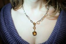 Rebecca Citrine Necklace