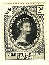 GILBERT & ELLICE ISLANDS 1953 CORONATION  MNH