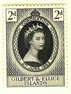 GILBERT & ELLICE ISLANDS 1953 CORONATION  MNH
