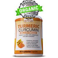 ORGANIC TURMERIC 95% CURCUMINOID ANTIOXIDANT TUMERIC LONGA LINN 60 x CAPSULES