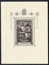 CROATIA 1943 Zagreb Philatelic Exhibition block MNH / **