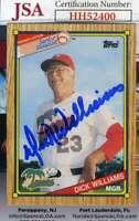 Dick Williams 1989 Topps Senior League JSA Coa Autograph Authentic Hand Signed