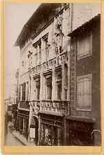 Façade médiévale vintage albumen print Tirage albuminé  11x16  1880