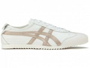 Asics Onitsuka Tiger MEXICO 66 DELUXE 1181A367 WHITE/ROSE GOLD With Shoe Bag