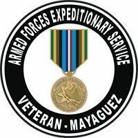 """Mayague Armed Forces Expeditionary Service Medal AFEM Veteran 5.5"""" Sticker Decal"""