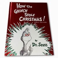 DR. SEUSS BOOK, HOW THE GRINCH STOLE CHRISTMAS! PARTY EDITION, HARDCOVER, 1985