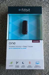 ❤️ Fitbit One Wireless Activity Tracker - Burgandy - New In Sealed Box