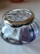 More details for beautiful caithness glass rose bowl flower arranging bowl vase purple blue swirl