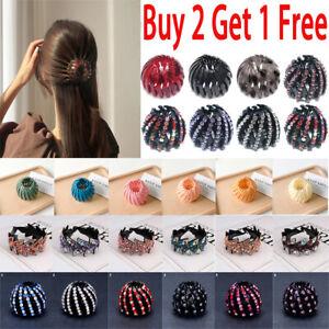 UK Womens Lazy Resin Hair Claw Ponytail Buckle Hair Bun Clip Bird Nest Hairpin
