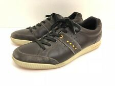 Ecco Street Premiere Mens Golf Shoes 46 EUR 12 US Brown Leather Spike less