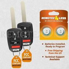 2 For 2013 2014 2015 2016 2017 Honda Accord Remote Car Keyless Entry Key Fob