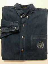 Marciano Collection for Guess Mens Shirt Size L Blue Denim Jean Long Sleeves
